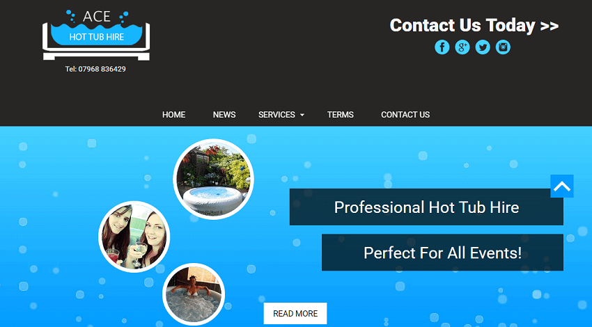 Ace Hot Tubs Website