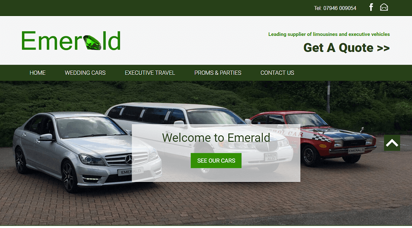 Emerald Limousines Website